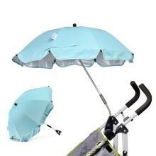 Baby Stroller Umbrella Sunshade Fordable Pram Umbrella Adjustable Rainproof Carriage Cover Sun Protection Stroller Accessories