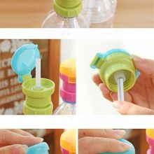 Children's Portable Spill-Proof Bottle Drinks Straw Cover Children Drinking Protection Tool Free Shipping