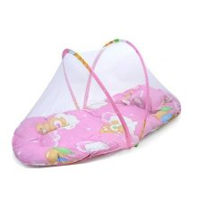 Folding Baby Crib Newborn Baby Bed with Pillow Mat Net Portable Foldable Infant Toddlers Crib with Netting Baby Travel Bed