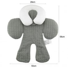 2017 Baby Stroller Cushion car seat accessories Head Body Support Carriage thermal Pad Mat Dual Sided Use Safety Rattle