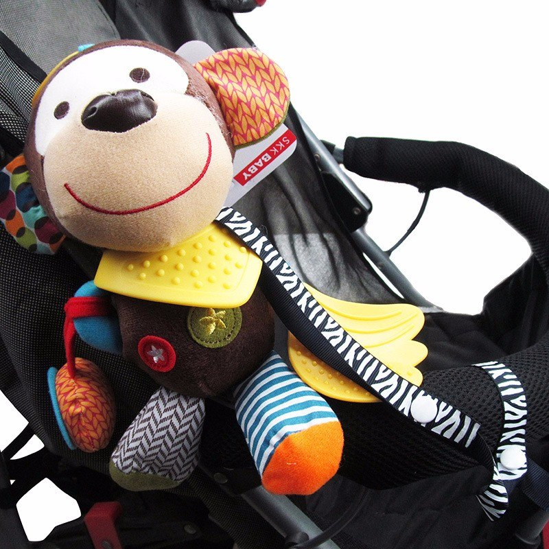 2016 Hot Baby Toys Teether Pacifier Anti-drop Rope Baby Stroller Accessories Lanyard