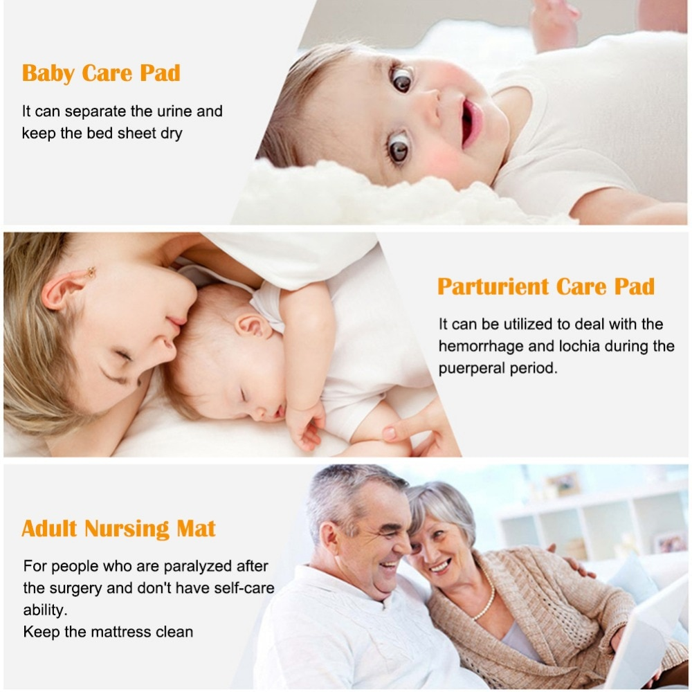 30Pcs Newborn Baby Waterproof Breathable Disposable Diaper Care Incontinence Protector for Adult Child Absorbent Waterproof