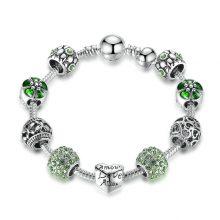 Magnifique Bracelet Charms en Argent Plaqué